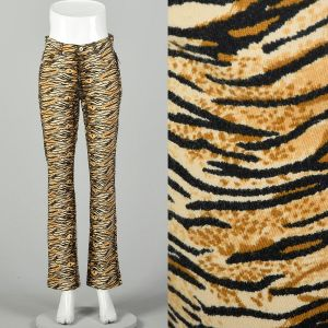 Small Guess Jeans Tiger Stripe Pants Mid Rise Cotton Bottoms