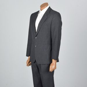 Small 37R 32x31 1960s Mens Three Piece Suit Tuxedo Blazer Jacket Tails Pleated Front Trousers  - Fashionconstellate.com