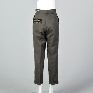 Small 1960s Mens Pants Deadstock Cotton Trousers - Fashionconstellate.com