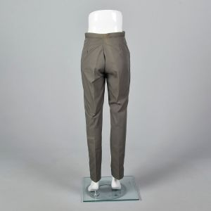 Small 1960s Mens Pants Green Faded Deadstock Trousers - Fashionconstellate.com