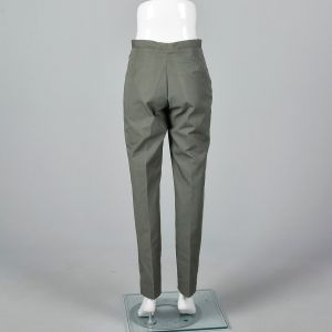Small 1960s Mens Pants Faded Green Trousers - Fashionconstellate.com