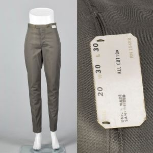 Small 1960s Mens Pants Deadstock Trousers