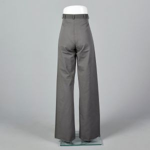 Small 1940s Mens Bell Bottoms Military Sailor Wide Leg Button Fly Pants - Fashionconstellate.com
