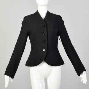 Small Charles Chang Lima Blazer Designer Structural Black Minimalist Jacket