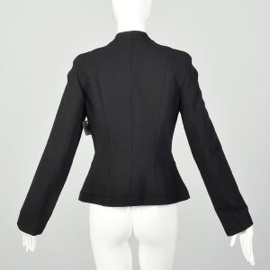 Small Charles Chang Lima Blazer Designer Structural Black Minimalist Jacket  - Fashionconstellate.com