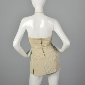 XS 1950s Ruched Swimsuit Pin Up Swimsuit Halter One Piece Sportswear Summer Pin Up Style  - Fashionconstellate.com