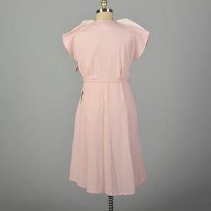 XXL 1950s Pink Day Dress Cotton Short Sleeves Deadstock Summer Casual - Fashionconstellate.com