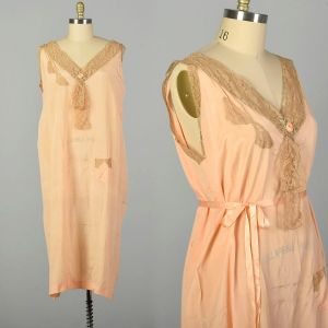 3XL 1920s Boudoir Nightgown Volup Lingerie Sleeveless