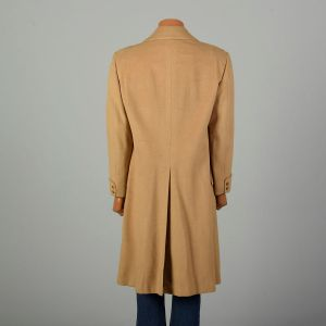 Large 1970s Coat Tan Double Breasted Trench Winter Overcoat - Fashionconstellate.com
