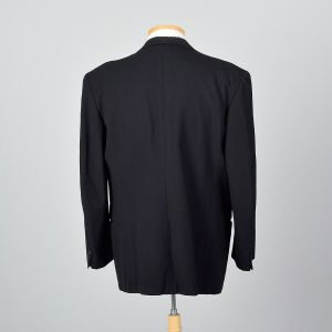 46L XL-XXL 1940s Mens Tuxedo Jacket Double Breasted Peaked Lapels Jetted Pockets - Fashionconstellate.com