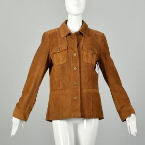 Medium The Territory Ahead Brown Suede Jacket with Donut Buttons