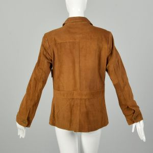 Medium The Territory Ahead Brown Suede Jacket with Donut Buttons - Fashionconstellate.com