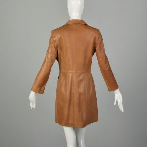 Size 2 1990s North Beach Leather Jacket Michael Holan Tan Buttery Soft Leather - Fashionconstellate.com