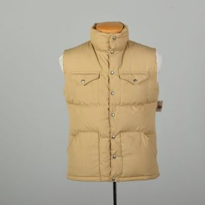 Sz Med 1980s The North Face Vest Tan Goose Down Puffer