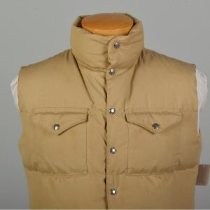 Sz Med 1980s The North Face Vest Tan Goose Down Puffer - Fashionconstellate.com