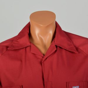Medium 1970s Coveralls Red Sailor Belted Short Sleeve Jumpsuit Workwear - Fashionconstellate.com