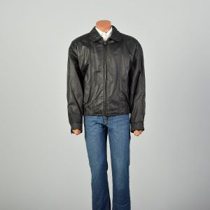 XL 1990s Jacket Black Leather Members Only