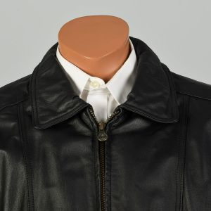 XL 1990s Jacket Black Leather Members Only - Fashionconstellate.com