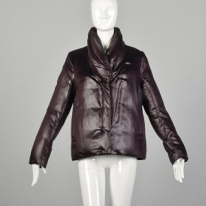 Medium Jil Sander Minimalist Shawl Collar Puffer Jacket