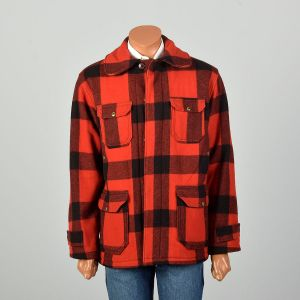 Large 1950s Woolrich Red Plaid Jacket Winter Hunting Chore Coat