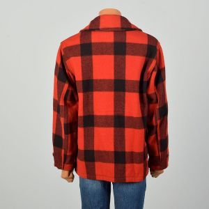 Large 1950s Woolrich Red Plaid Jacket Winter Hunting Chore Coat - Fashionconstellate.com
