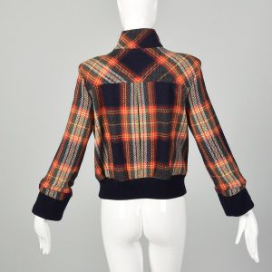 Small LAMB Gwen Stefani Asymmetric Multi-Color Plaid Jacket Autumn Outerwear - Fashionconstellate.com