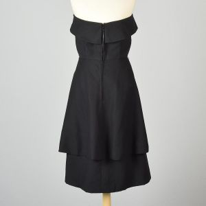Small 1950s Pauline Trigere Dress Strapless LBD Petal Skirt Cocktail Party Formal  - Fashionconstellate.com