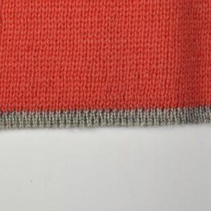 Small 1960s Red Tank Top Cropped Knit Sleeveless Mod Mock Neck Gray Trim Rockabilly Blouse - Fashionconstellate.com