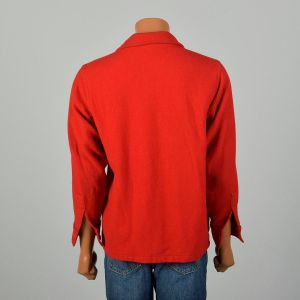 Large 1950s Shirt Boy Scouts of America Official Wool Button-Up Uniform Jacket - Fashionconstellate.com