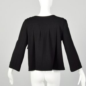 Small Marc by Marc Jacobs Black Wool Swing Jacket Double Breasted Autumn Outerwear - Fashionconstellate.com