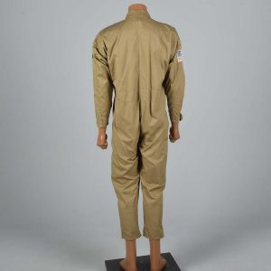Medium 1970s Mens Flight Suit Cotton Jumpsuit Coveralls Workwear Military Uniform Jumpsuit  - Fashionconstellate.com