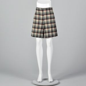 Small 1950s Plaid Shorts High Waisted Shorts Pin Up Rockabilly Separates Spring Summer Sportswear  - Fashionconstellate.com
