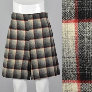 Small 1950s Plaid Shorts High Waisted Pin Up Rockabilly Separates Summer Sportswear