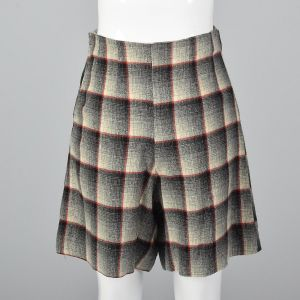 Small 1950s Plaid Shorts High Waisted Pin Up Rockabilly Separates Summer Sportswear  - Fashionconstellate.com