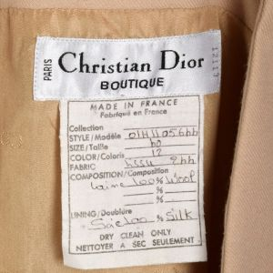 Small 1980s Numbered Christian Dior Boutique Minimalist Tan Wool Vest  - Fashionconstellate.com