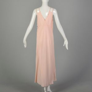 Large 1930s Pink Rayon Nightgown Novelty Boudoir Adam & Eve Fig Leaf Fetish Lingerie - Fashionconstellate.com