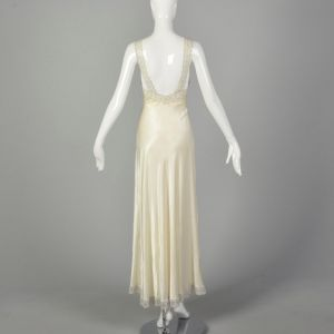 XS 1930s Bridal Nightgown Wedding Night Lingerie Sexy Sleepwear - Fashionconstellate.com