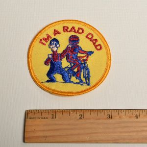 1980s I'm A Rad Dad Embroidered Sew On Patch Father's Day Appliqué - Fashionconstellate.com