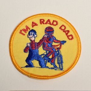 1980s I'm A Rad Dad Embroidered Sew On Patch Father's Day Appliqué