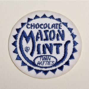 Chocolate Mason Mints Embroidered Sew On Patch Applique