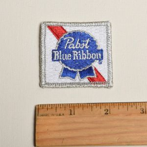 Pabst Blue Ribbon Beer Logo Embroidered Sew On Patch Applique  - Fashionconstellate.com