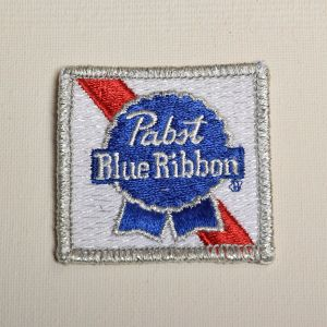 Pabst Blue Ribbon Beer Logo Embroidered Sew On Patch Applique