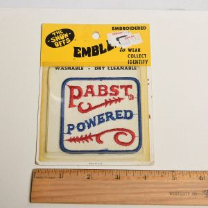 1970s Pabst Blue Ribbon Sew On Patch Bar Powered Beer - Fashionconstellate.com