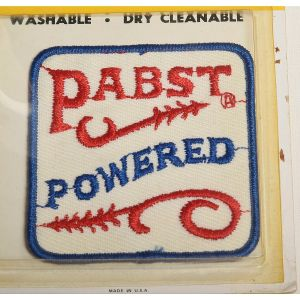 1970s Pabst Blue Ribbon Sew On Patch Bar Powered Beer
