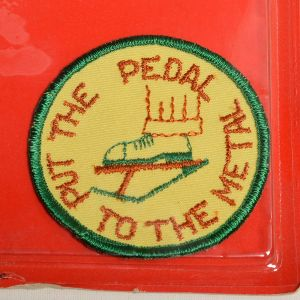 1970s Put The Pedal To The Metal Sew On Patch Long Haul Trucker