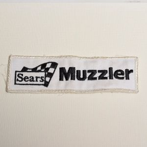 1970s Sears Sew On Patch Muzzler Applique