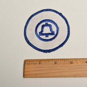 1970s Blue Ma Bell Embroidered Sew On Patch Uniform Appliqué - Fashionconstellate.com