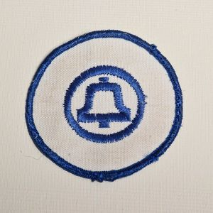 1970s Blue Ma Bell Embroidered Sew On Patch Uniform Appliqué