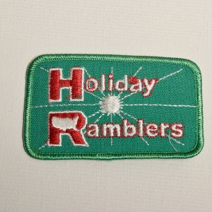 1970s Holiday Ramblers Motorhome Embroidered Sew On Patch RV Travel Appliqué