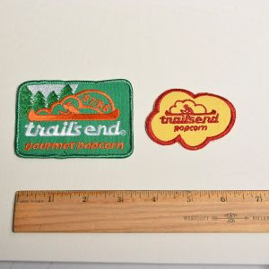 1980s Embroidered Sew On Patch Trails End Popcorn Applique - Fashionconstellate.com